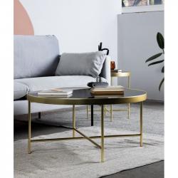 Hector Kulatý konferenční stolek Victoria I černý/zlatý