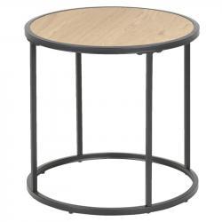 Hector Kulatý odkládací stolek Rena II dub
