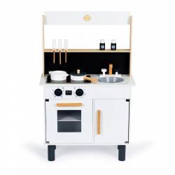 ECOTOYS Dřevěná kuchyňka pro děti ELOISE bílá