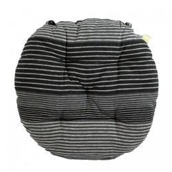 Trade Concept Sedák Proužek šedá prošívaný kulatý, 40 cm