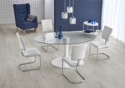 Halmar Oválný jídelní stůl Coral bílý