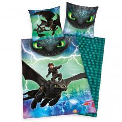 Herding Dětské bavlněné povlečení Dragons, 140 x 200 cm, 70 x 90 cm
