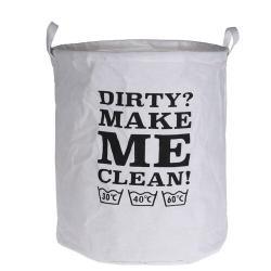 Textilní koš na prádlo Make me clean, 40 x 50 cm