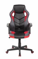 MODERNHOME Otočná herní židle FERO červeno-černá