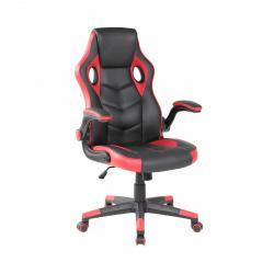 MODERNHOME Otočná herní židle GAMER červeno-černá