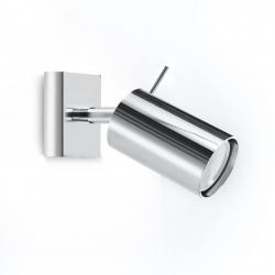 EULUNA Nástěnný reflektor Round, chrom, jeden zdroj