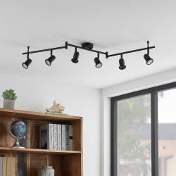 ELC ELC Simano LED stropní reflektor, černá, 6 zdrojů
