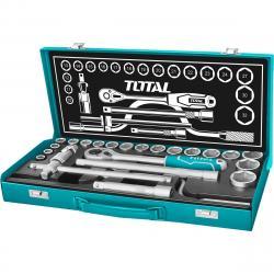 Total Tools Sada nástrčných hlavic, 24 ks