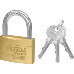 Total Tools Visací zámek s klíči, 4 cm