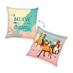 Herding Polštářek Spirit Believe in your dream růžová, 40 x 40 cm