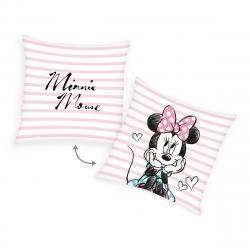Herding Polštářek Minnie Mouse Pruhy, 40 x 40 cm
