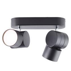 AEG AEG Twine LED stropní světlo, černá, dva zdroje