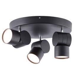 AEG AEG Twine LED stropní světlo, černá, tři zdroje