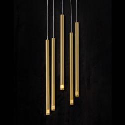 EULUNA Závěsné světlo Sopel Laser, 5 zdrojů, zlatá