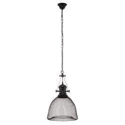 EULUNA Závěsné světlo Grammy v černé s mřížovým stínidlem