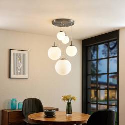 Lindby Lindby Heleska, závěsné světlo, pětižárovkové