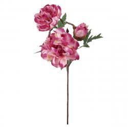 Umělá květina Pivoňka tmavě růžová, 56 cm