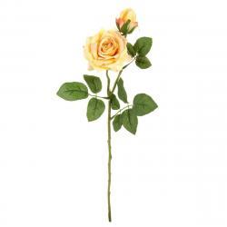 Umělá květina Růže žlutá, 46 cm
