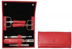 Zwilling manikúra Classic Inox v koženém pouzdře, 5 ks, červená