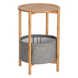 Bambusový odkládací stolek Wenko Bahari, ø 42 cm