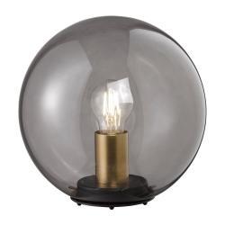 Černá skleněná stolní lampa Fischer & Honsel Dini,ø25cm