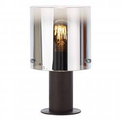 Brilliant stolní lampa Beth se stínidlem z kouřového skla