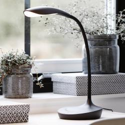 Markslöjd LED stolní lampa Swan, černá