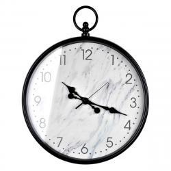 DekorStyle Nástěnné hodiny Marble černé