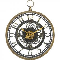 DekorStyle Nástěnné hodiny meca hnědé