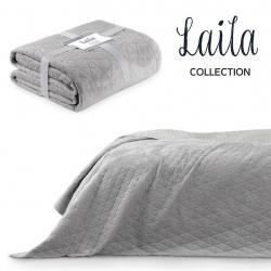 Přehoz na postel AmeliaHome Laila stříbrný