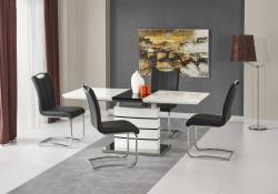 Halmar Rozkládací jídelní stůl Norin bílý/černá