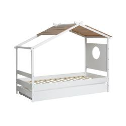 Bílá dětská postel s výsuvnou zásuvkou Marckeric Nayah,90x190cm