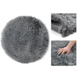 Kulatý koberec AmeliaHome Floro tmavě šedý