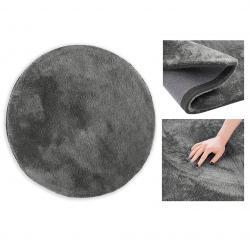 Kulatý koberec AmeliaHome Morko tmavě šedý