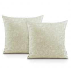 Povlaky na polštáře AmeliaHome Oxford Ginkgo krémové