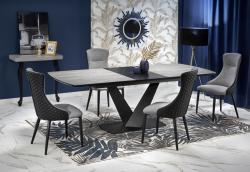Halmar Rozkládací jídelní stůl Winst tmavě šedý/černá