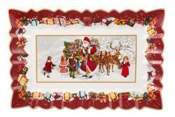 Villeroy & Boch Toy's Fantasy hluboký podnos, Santa s dětmi, 35 x 23 cm