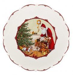 Villeroy & Boch Toy's Fantasy podnos na cukroví, Santa naděluje dárky, 42 cm