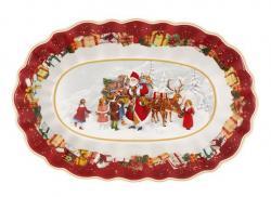 Villeroy & Boch Toy's Fantasy oválná mísa, Santa a děti, 29 x 19 cm