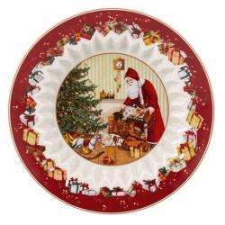 Villeroy & Boch Toy's Fantasy mísa, Santa naděluje dárky, Ø 25 cm