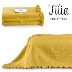 Přehoz na postel AmeliaHome Tilia žlutý
