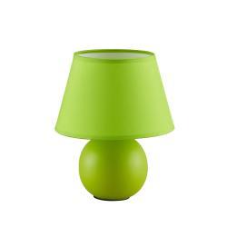 Lindby Lindby Calliota látková stolní lampa kulatá zelená