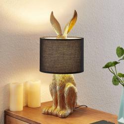 Lindby Lindby Lorentina stolní látková lampa, zajíc, bílá