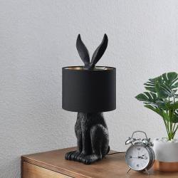 Lindby Lindby Lorentina stolní lampa, zajíc, černá