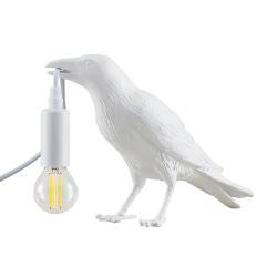 Lindby Lindby Ravenka stolní lampa ve tvaru ptáka, bílá