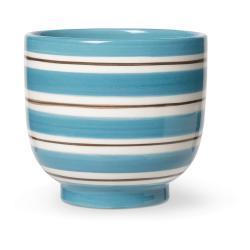 Modro-bílý keramický květináč Kähler Design, ø 12 cm