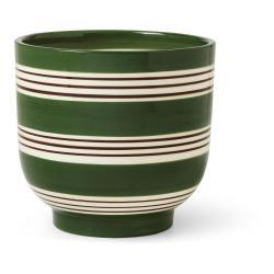 Tmavě zeleno-bílý keramický květináč Kähler Design Nuovo, ø 15 cm