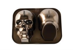 Forma na 3D lebku Haunted Skull Bundt® bronzová Nordic Ware