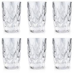 DekorStyle Sada 6 sklenic Diamant 300 ml čirá