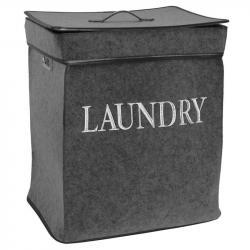 DekorStyle Koš na prádlo Laundry tmavě šedý